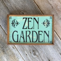 Zen Garden, Handmade Wood Sign, Rustic Wood Signs, Custom Signs, Personalized Signs, Hand Painted Wood Signs, Signs for the Garden, Outdoor Signs, Garden Decor, Gift Idea for Gardeners, Personalized Wood Signs