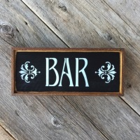 Bar Sign, Bar Decor, Home Bar Signs and Decor, Basement Bar Decor, Rustic Style Wood Signs, Hand Stenciled Signs, Indoor and Outdoor Signs, Decorative Signs, Housewarming Gift Ideas