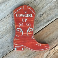 Cowgirl Boot, Cowgirl Up, Motivational Quotes, Inspirational Quotes, Life Quotes, Red Cowgirl Boot, Western Home Decor, Western Style Signs, Handmade Wood Signs, Rustic Home Decorating Ideas, Cowgirl Decor Ideas, Signs for the Home, Farm and Ranch Signs