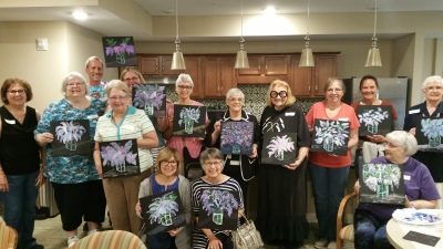 Sip and Paint Attendees