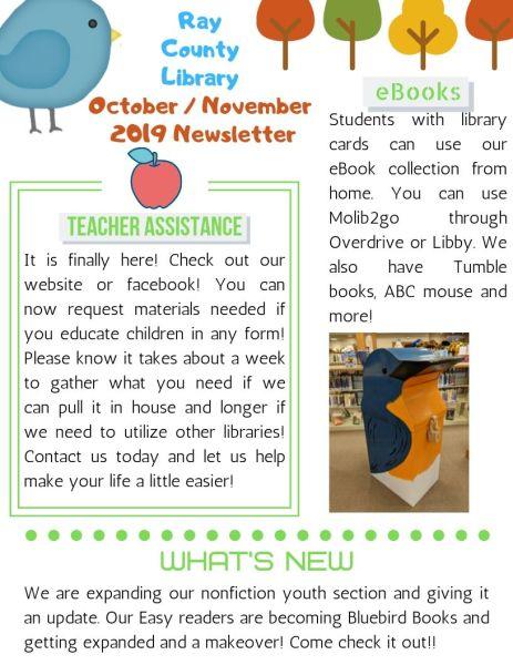 October Newsletter 1