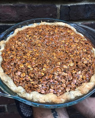 Holiday Chocolate Oatmeal Pie