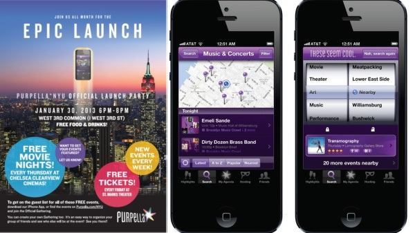 Mobile apps for a New York meetup group