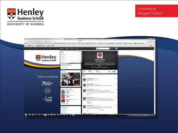Social media, blogging, SEO and SEM for Henley Business School in Hong Kong and Asia