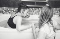 relaxing in a bath