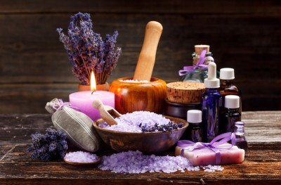 group of essential oils and aromatherapy