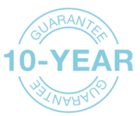 10 Year Guarantee on our windows, doors and conservatories
