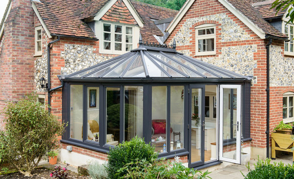 Edwardian conservatory installation, Burgess windows and doors
