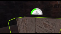 TangramsVR puzzle progress bar.