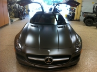 Matte Painted AMG SLS Gull Wing
