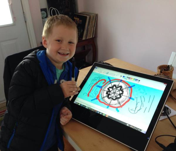 Digital mandalas with a special visitor!