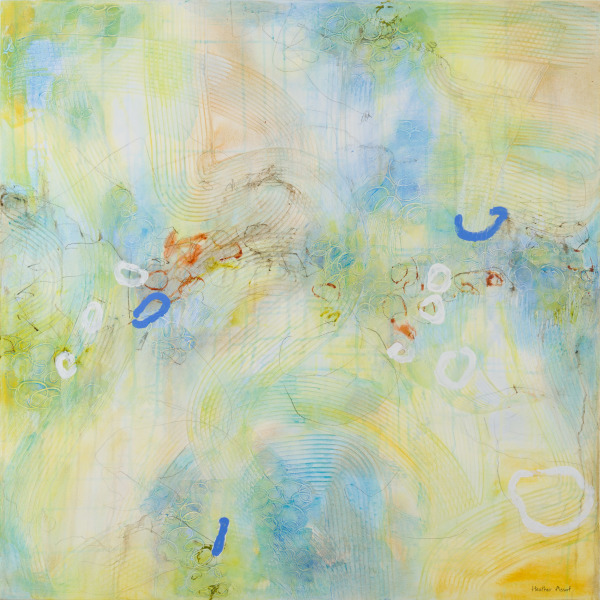 """The Energy of Renewal 2"", 36""x36""x1.5"", $1350.00. Available from Koyman Galleries, Ottawa, ON."
