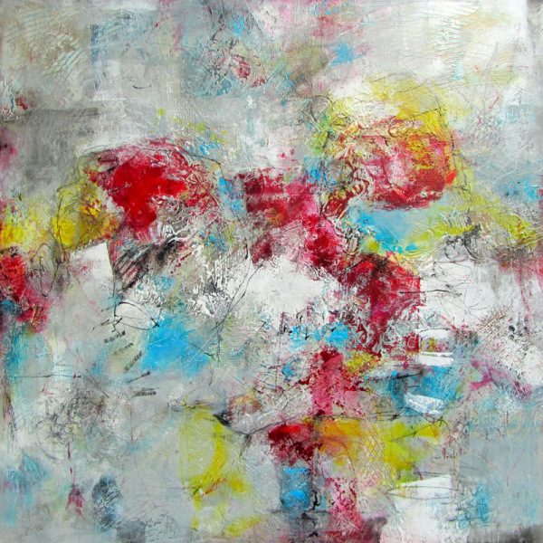 """Essential Happiness"", 30""x30""x1.5"", $1045.00. Available from Xanadu Gallery, Scottsdale, Arizona."