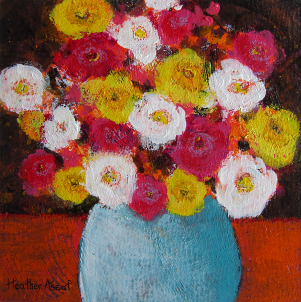 """Flower Play III"". 15""x15"". $159.00, The Gallery Gift Shop, Arnprior, ON."