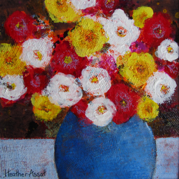 """Flower Play IV"", 15""x15"", $159.00, Available from The Gallery Gift Shop, Arnprior, ON."