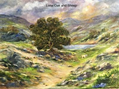 LONE OAK AND SHEEP