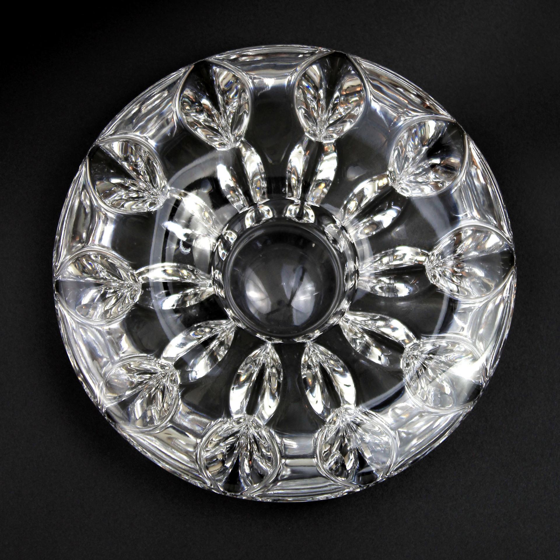 Vintage Miller Rogaska Crystal Glass Snowflake Tealight Candle Holder