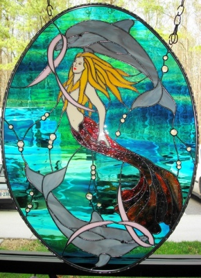 Mermaid With Breast Cancer Ribbons