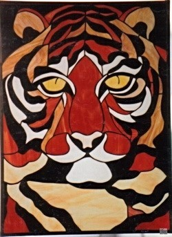 Stained Glass Tiger