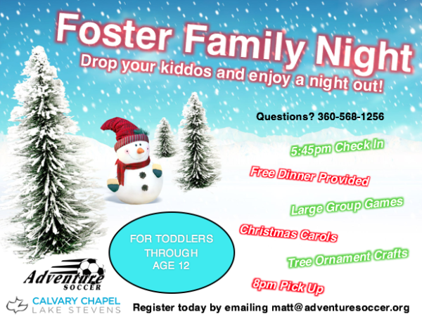 Foster Kids Night Out 12/18