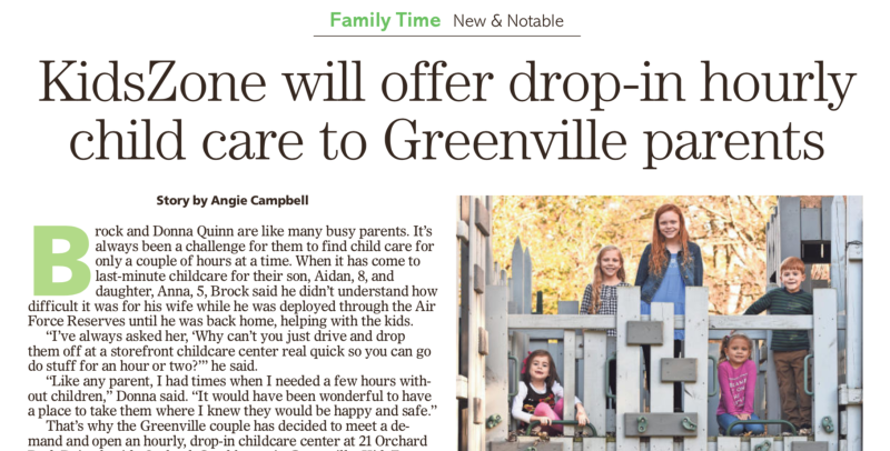 Upstate Parent: KidsZone to offer Drop-In Child Care in Greenville