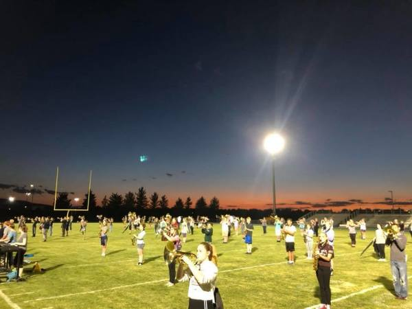 Evening Marching Band Practice