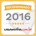 Selo ouro do site Casamentos.com.br
