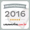 Selo prata do site Casamentos.com.br