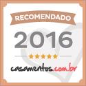 Selo bronze do site Casamentos.com.br