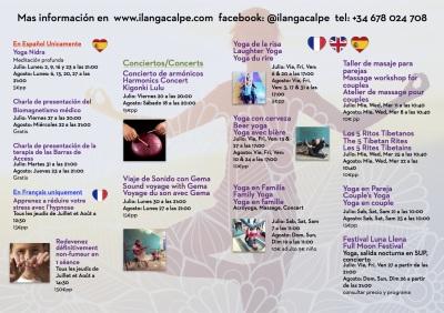 Programa de Verano! Summer Programme! Programme d'été