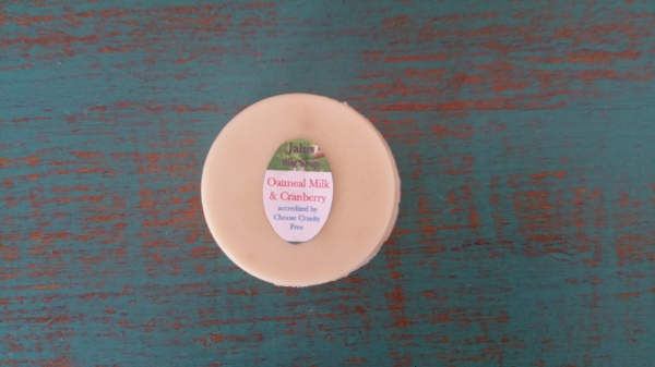 Homemade Oat Milk & Cranberry Soap 80gm $4.00