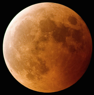 Lunar eclipse on 31-Jan-2018