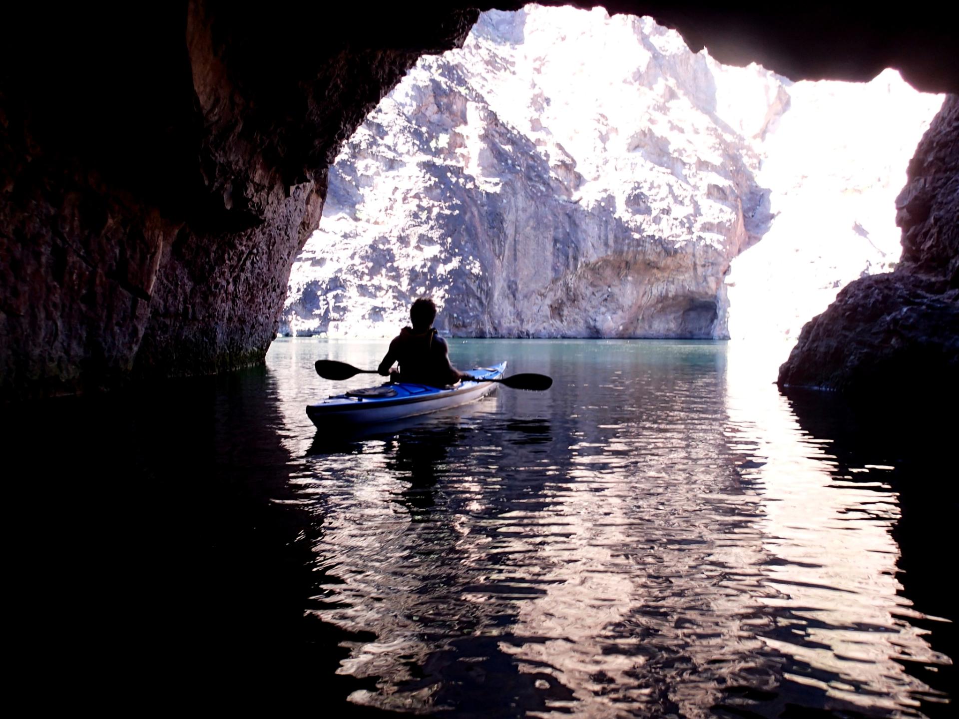 Alex from Brazil in Emerald Cave