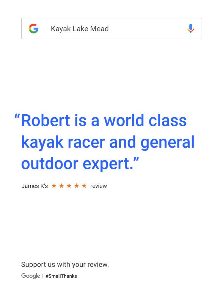 Robert is a world class kayak racer and general outdoor expert.