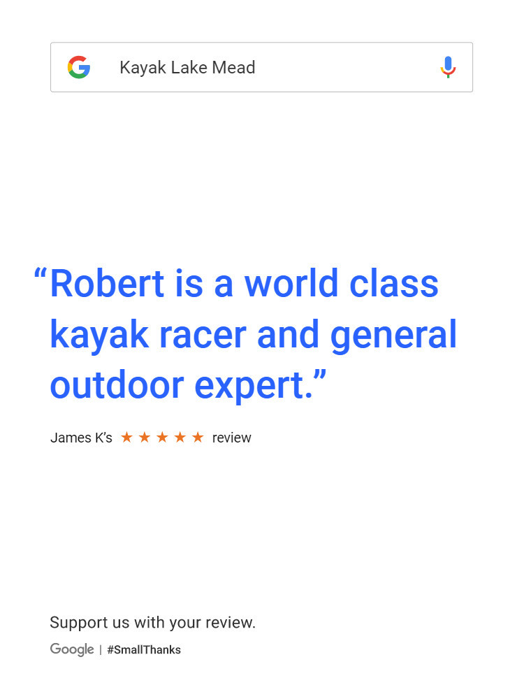 Robert is a world class kayak racer and general outdoor expert.