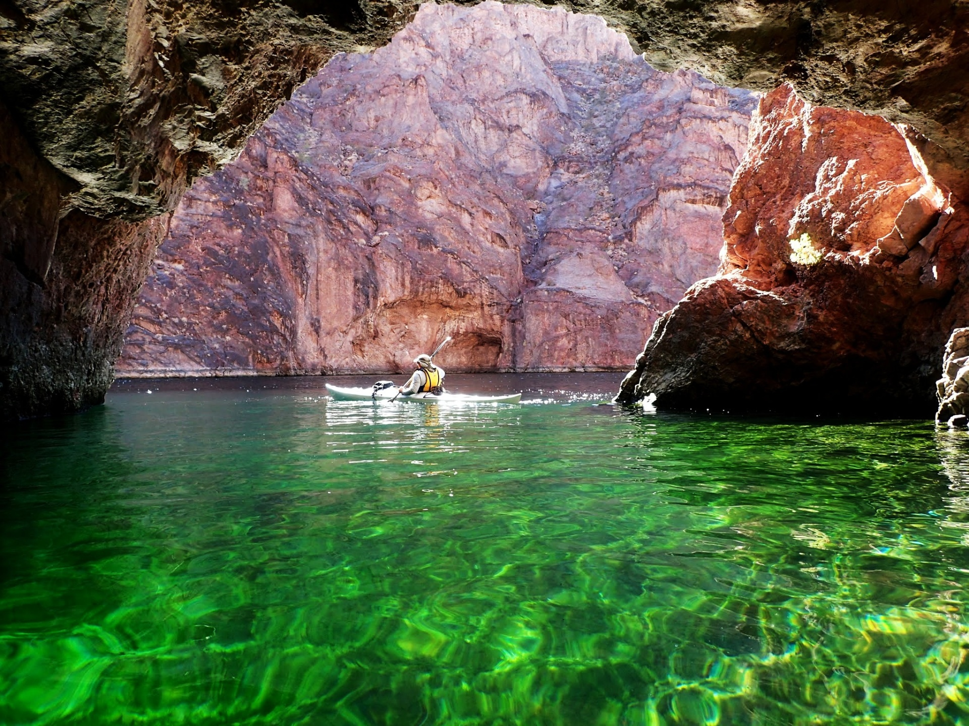 Emerald Cave in the afternoon with Mike Bean