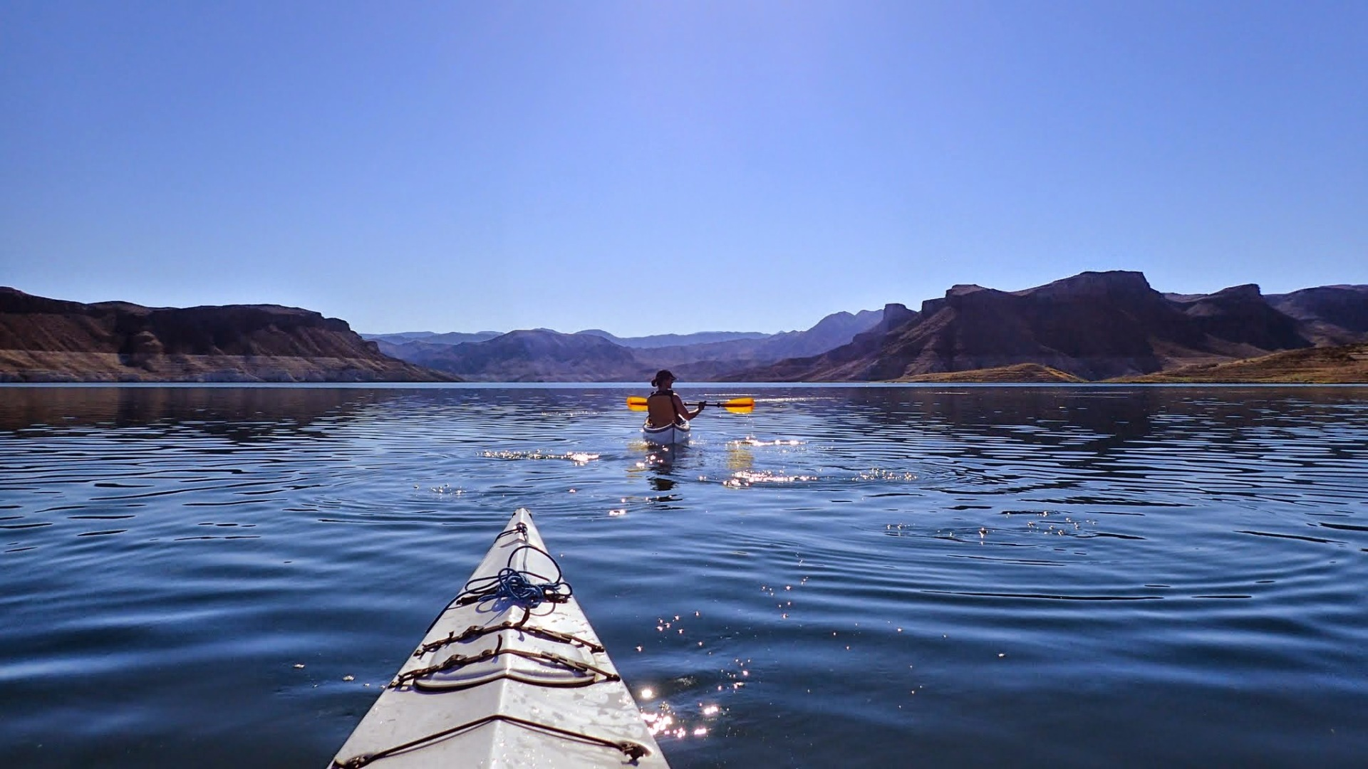 Paddling on Temple Bay