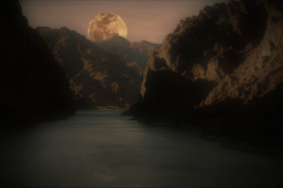 A moonlight paddle in the Black Canyon with Kayak Lake Mead.