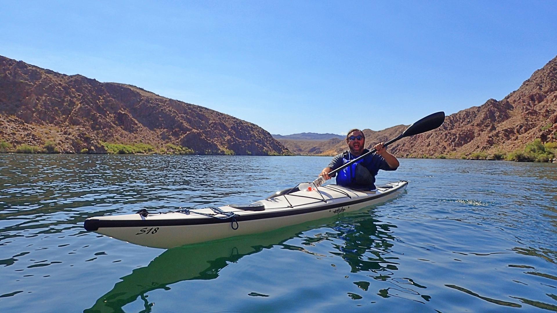 Morgan Eisen in an Eddyline Falcon Lake Mohave