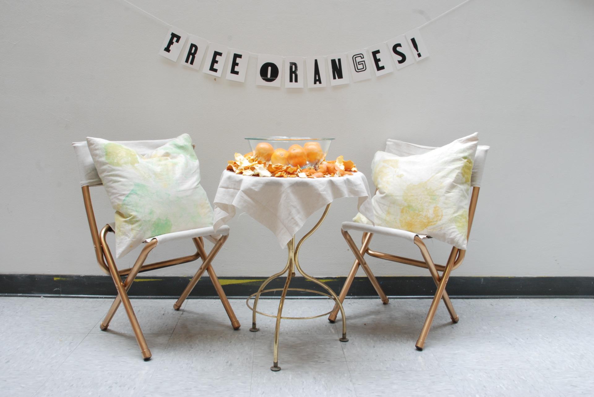 FREE ORANGES! installation shot