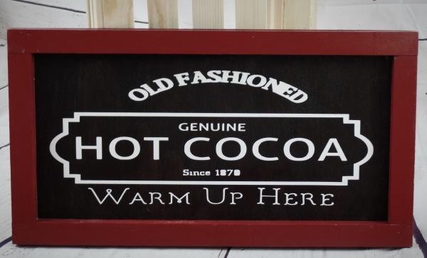 Farmhouse Rustic Genuine Hot Cocoa Wood Sign