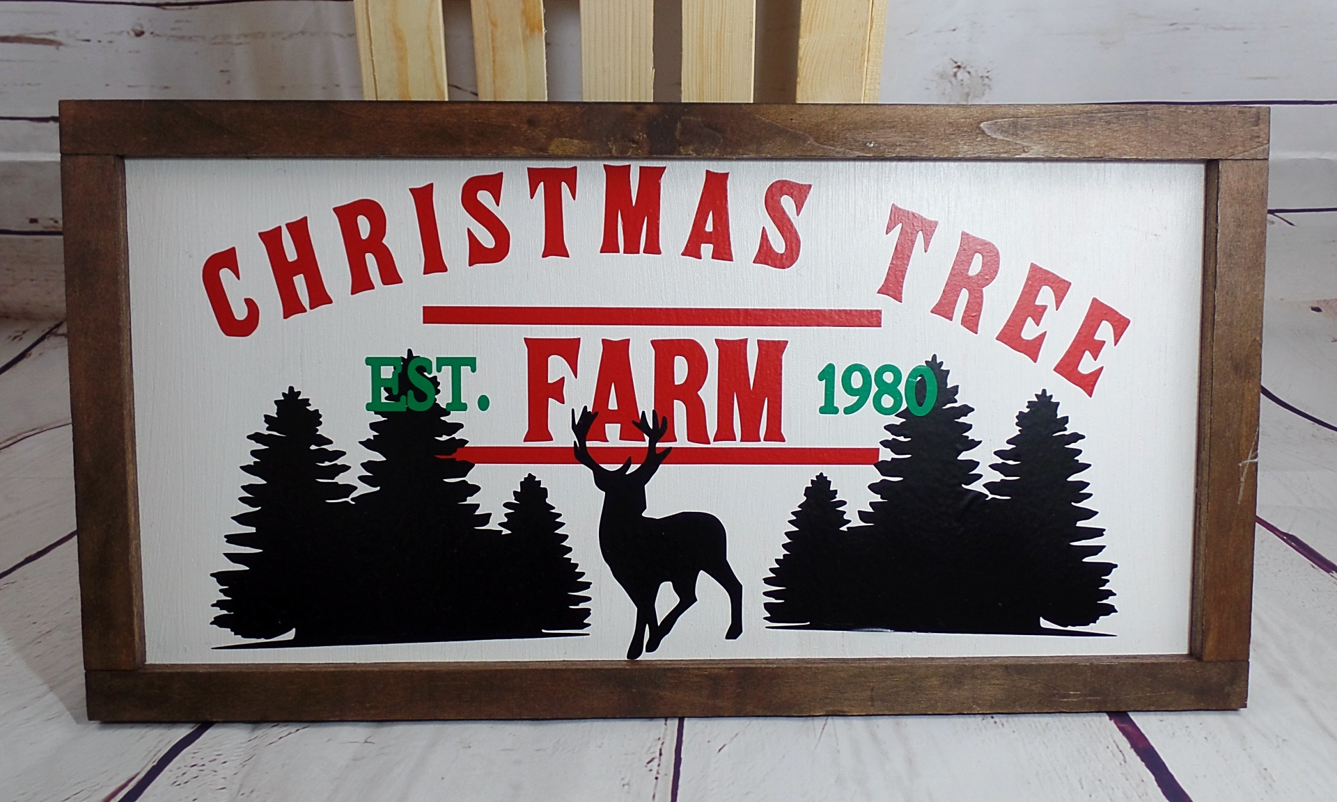 Rustic Christmas Farmhouse Christmas Tree Farm Wood Sign