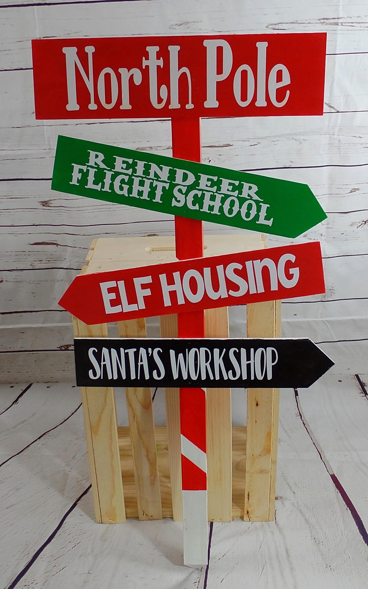 Christmas Yard Directional Stake