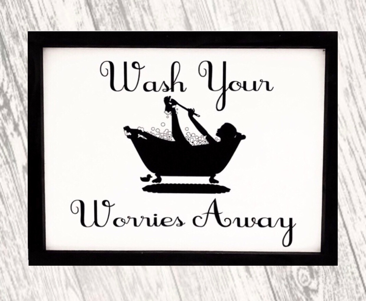 Bathroom Decor, Bathtub, Farmhouse Wood Sign, Bathtub Decor, Bathroom Wall Decor, Wash, Wash Wood Sign, Bathroom Wood Sign, Gifts For Her