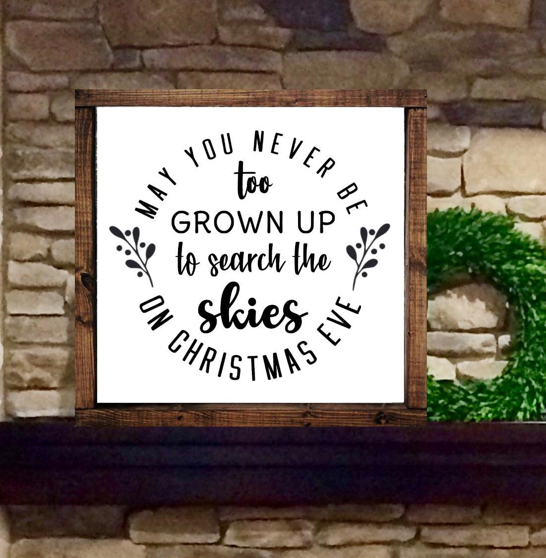 Christmas Farmhouse Mantel Shelf Decor Wood Sign