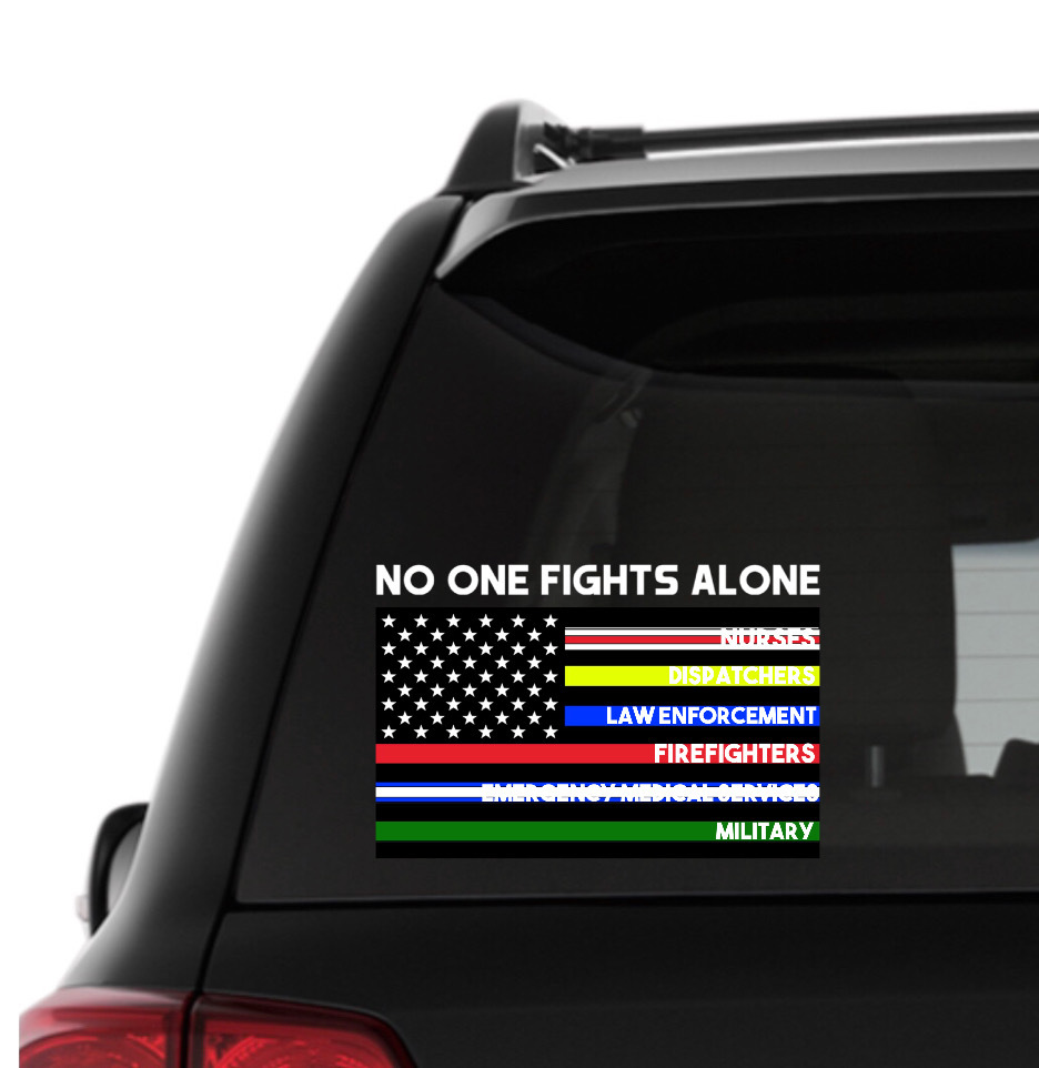 Thin Line Decals, Thin Blue Line, Thin Red Line, Support Nurses, Thin Green Line