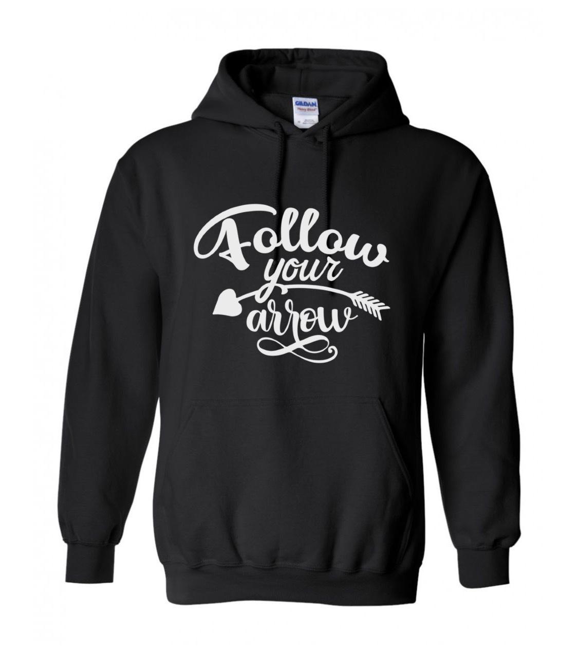 Arrow Hoodie, Boho Arrows, Black Hoodie, Plus Size Sweatshirt