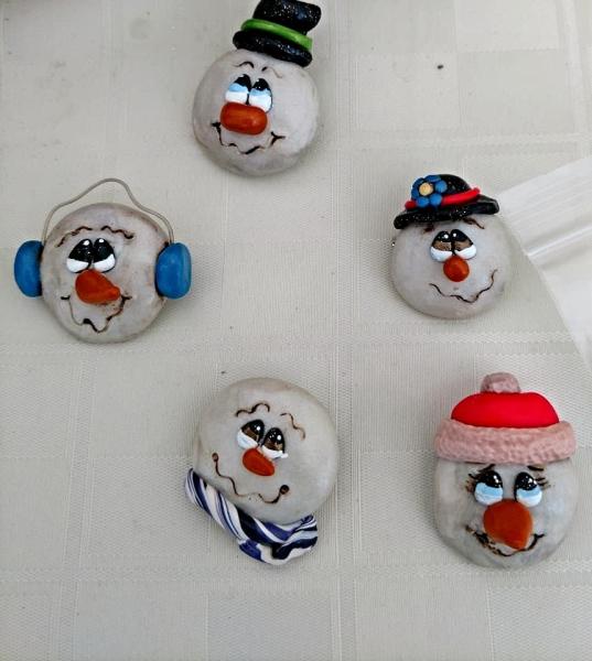 Snowman Head Pin