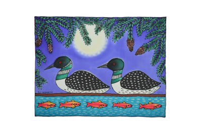 "Hemlock Loons 16""x 20"" (Matted and Framed)"