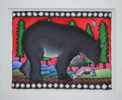 "Bear Fishing 11""x 14"""